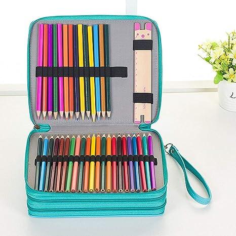Cheaonglove Estuche Enrollable Estuche Escolar niño Rollo de lápiz Bolsas de lápiz para niñas Estuche para lápices Enrollable Caso del Arte Green: Amazon.es: Hogar