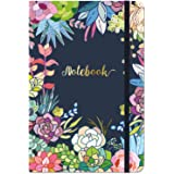 """Ruled Notebook/Journal - Lined Journal, 8.4"""" X 5.8"""", Hardcover, Page mark, Thick Back Pocket, Lay Flat 360° to Write…"""
