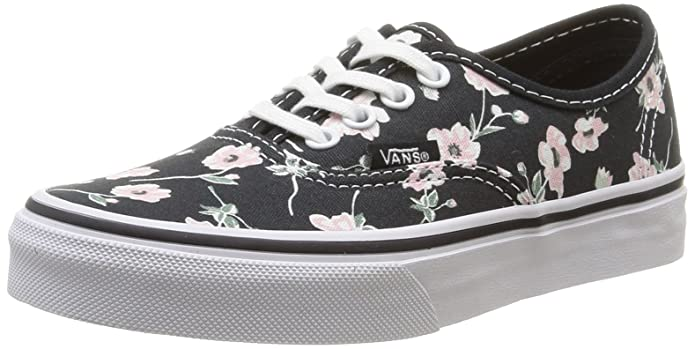 Vans Authentic Sneakers Unisex Kinder Schwarz mit Blumen
