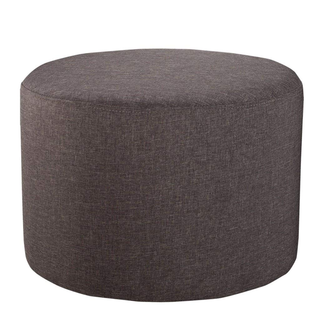 ZDXMZ Stool,Foot Rest Stool Round Sofa Stool Modern Furniture with Washable Cover and Memory Foam(50 50 36cm) (Color : D) by ZDXMZ