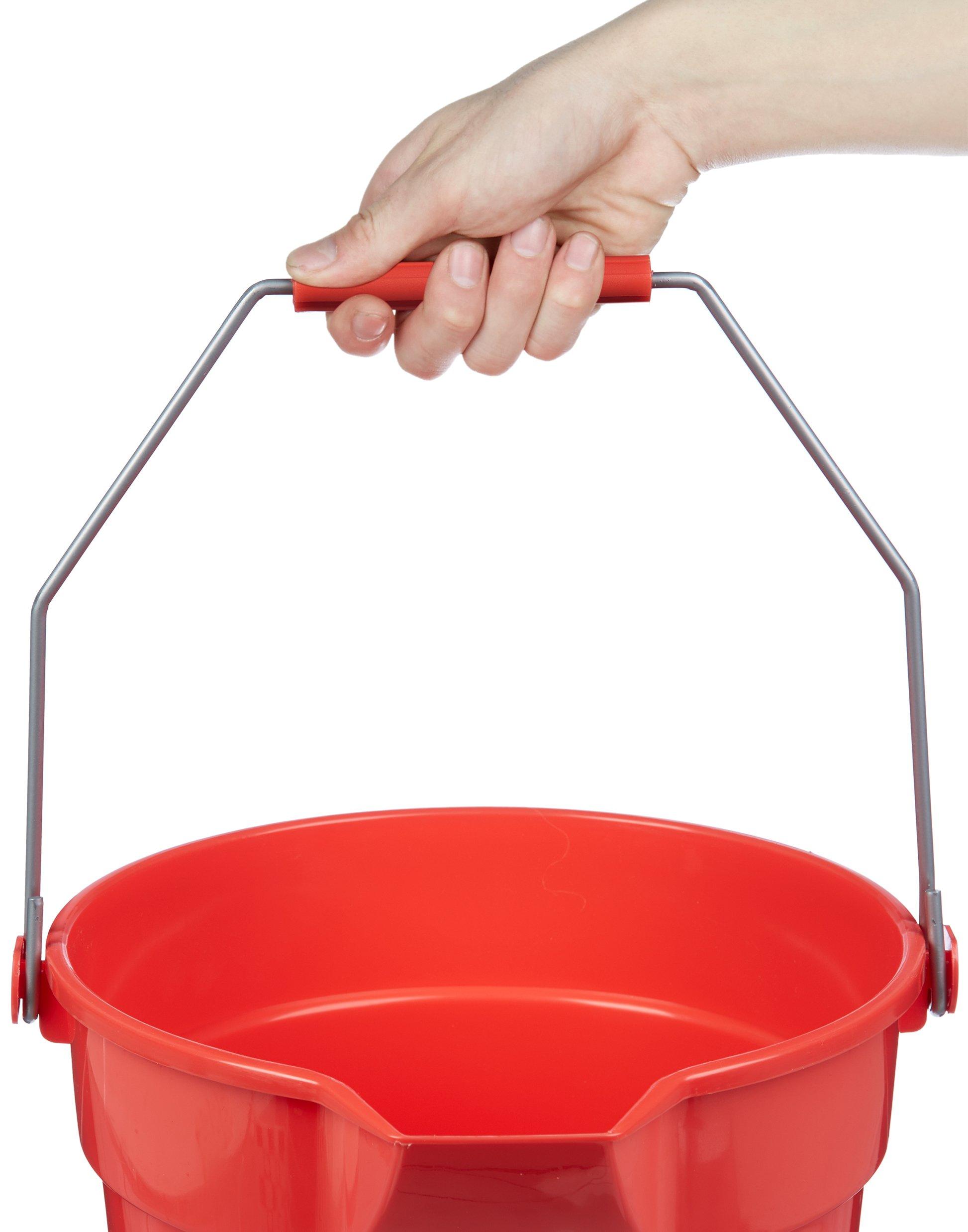 AmazonBasics 10 Quart Plastic Cleaning Bucket, Red - 6-Pack by AmazonBasics (Image #4)