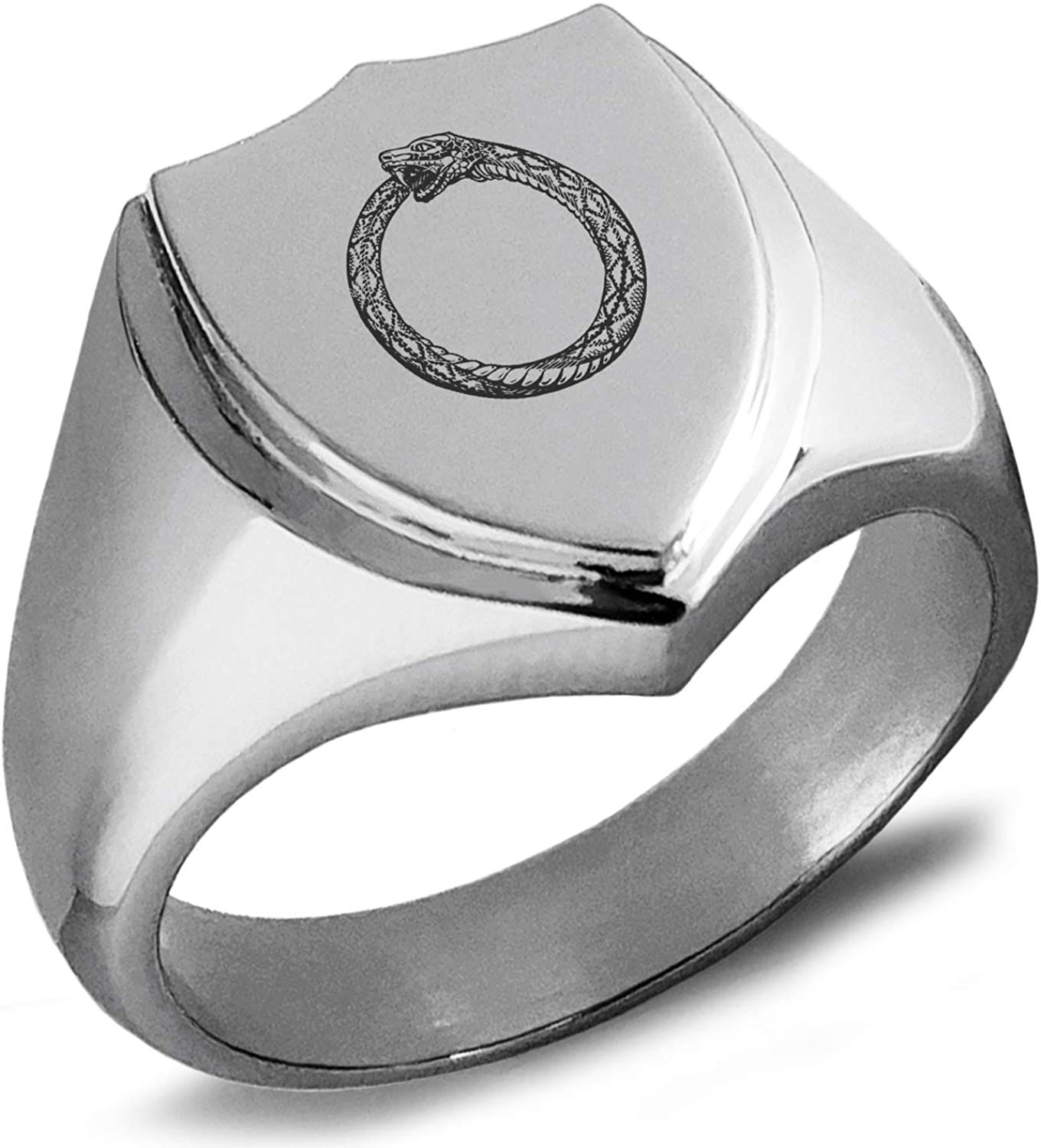Silver Square Shaped JEWURA Biker Ring Fashion Stainless Steel Jewelry
