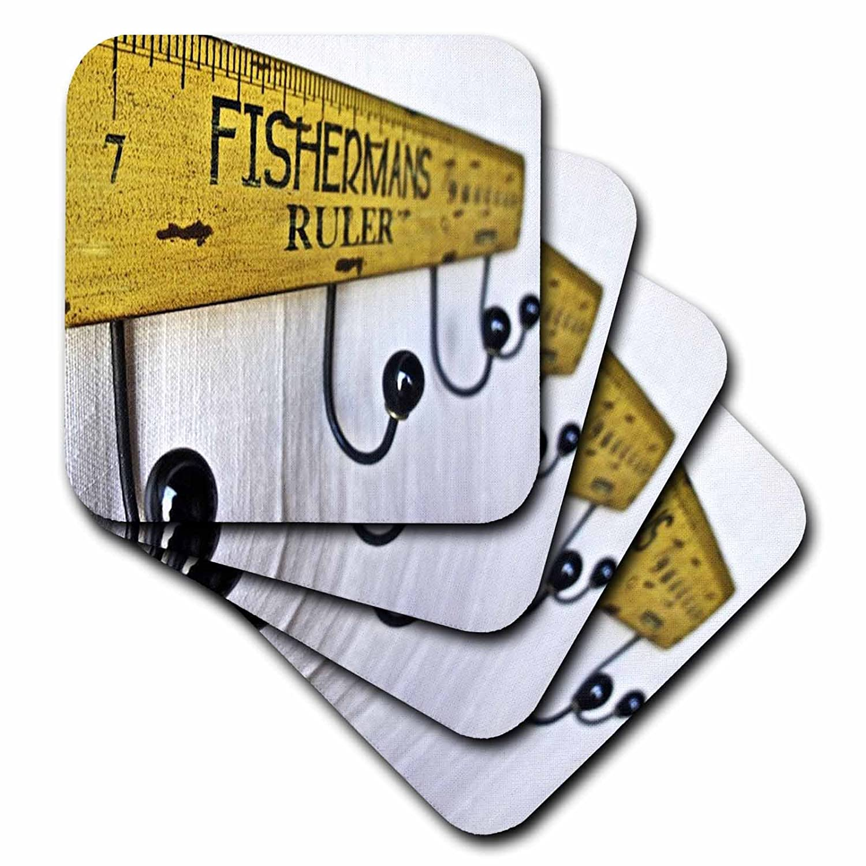 3dRose cst/_51482/_3 How Big a Fish Ceramic Tile Coasters Set of 4