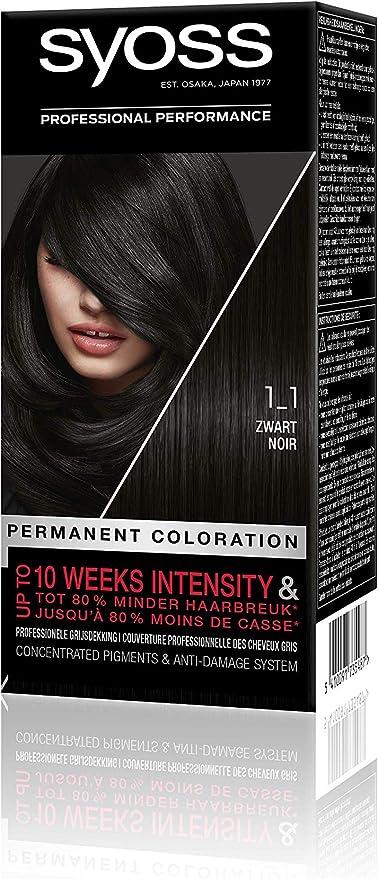 Syoss Color baseline 1-1 - Tinte para el pelo, color negro ...