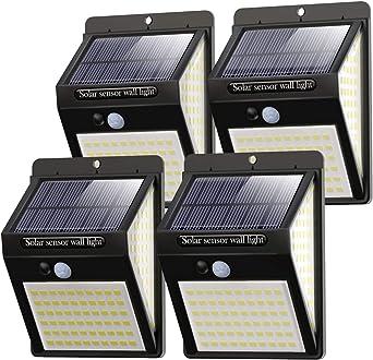Litogo Luz Solar Exterior 140 Led 4 Pack 3 Modos Con Sensor De Movimiento Luces Led Solares Exteriores 270º Lluminación Focos Solares Exterior Impermeable Aplique Lampara Solar Para Exterior Jardin Amazon Es Iluminación