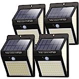 Litogo Luz Solar Exterior 140 LED【4 Pack / 3 Modos】con Sensor de Movimiento, Luces LED Solares Exteriores 270º…