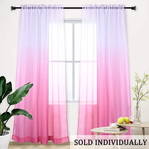 Kids Children Curtain Window Star Valance Drape Pink Green Blue Home Room Decor