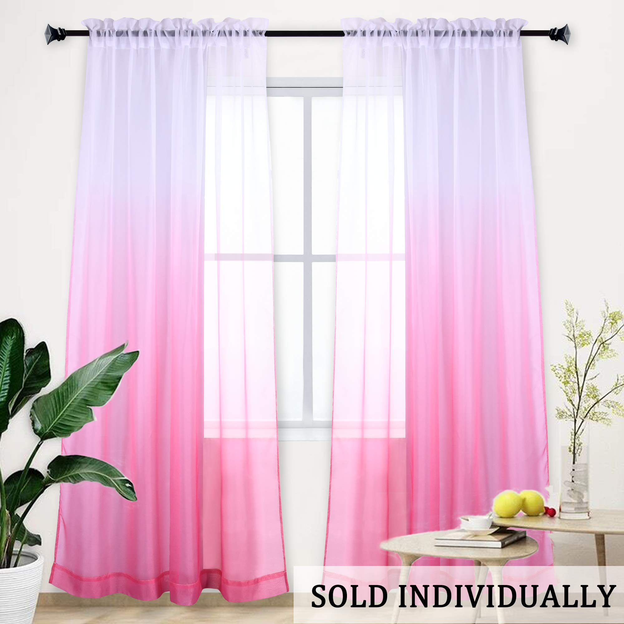 Pink Curtains Ombre Sheer Curtains Teena Buy Online In Isle Of Man At Desertcart