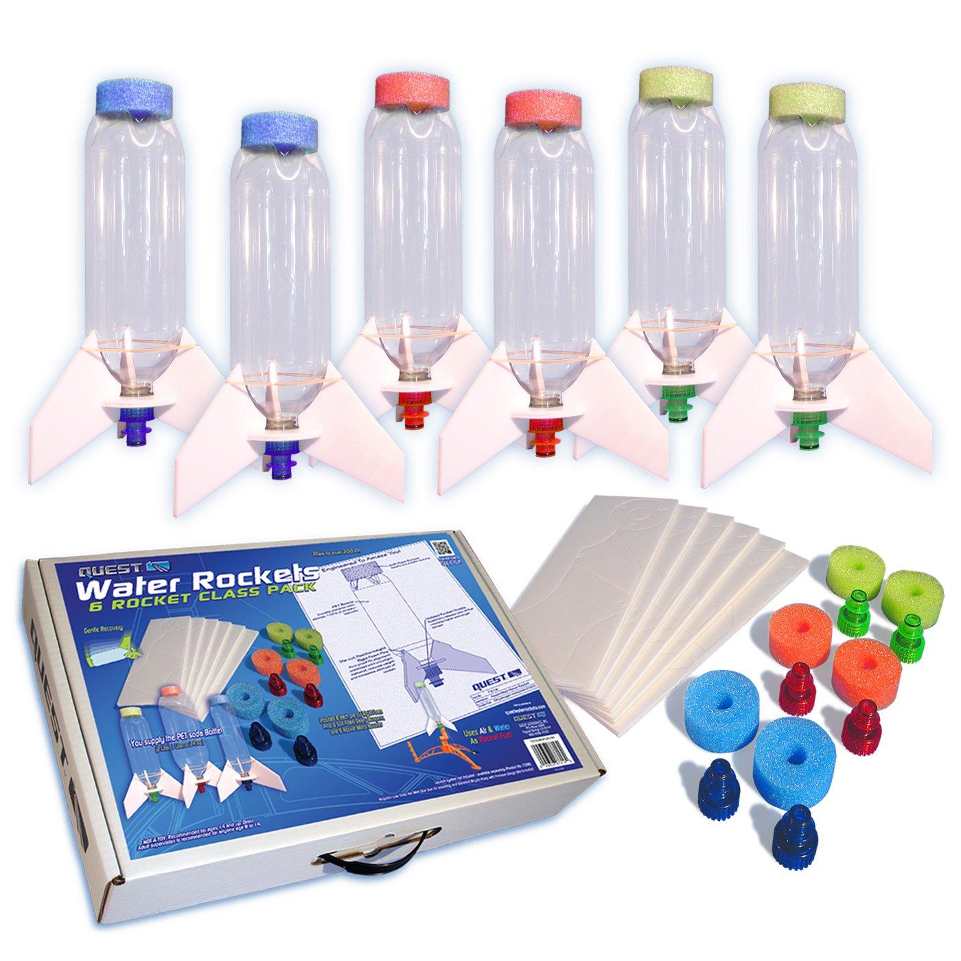 Quest Aerospace Water Rocket Class Pack, 6 Piece