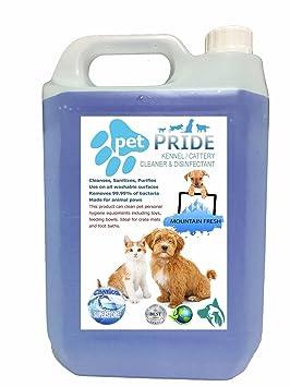 Pet Pride - de la perrera desinfectante/limpiador 5L a 25L Criaderos/perreras/sanitizers (5 L Alpine fresco): Amazon.es: Hogar