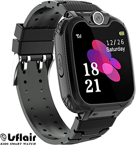Children s Smart Watches Phone – Smart Watch for Boy Girl Music Kids Watch Funny Game HD Touch Screen Sports Kid Smartwatches with Call Camera Alarm Clock Music Player, Suitable for Aged 2-12 Black