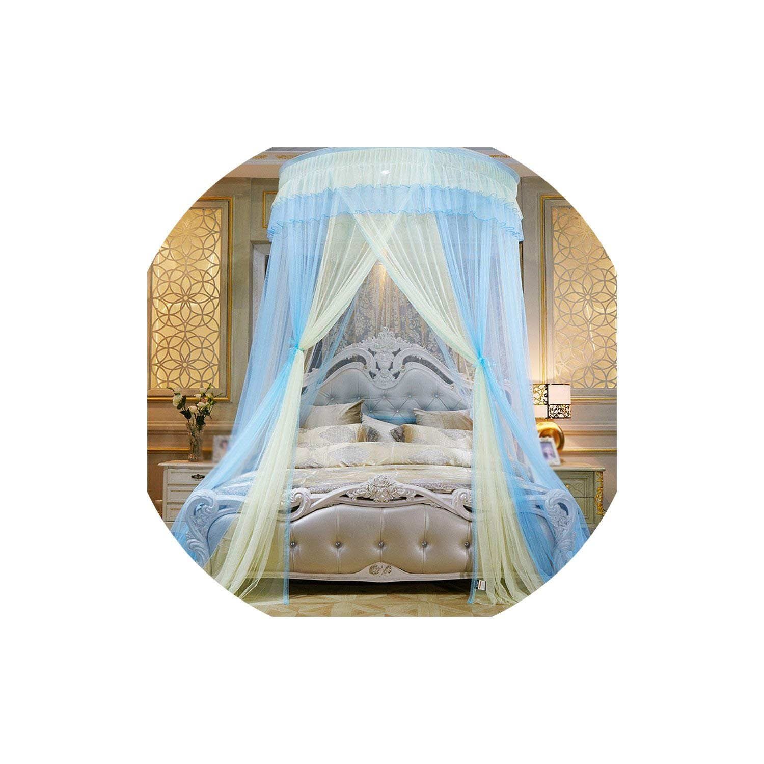 Colorful Mosquito Net Princess Insect Net Single Door Hung Dome Bed Canopies Netting Round Mosquito Net Commonly Used,5