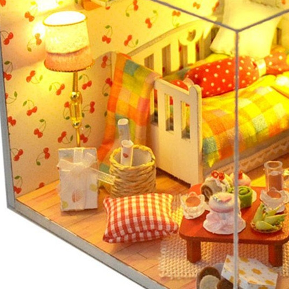 Kisoy Romantic And Cute Dollhouse Miniature Diy House Wiring Schematic Kit Creative Room Perfect Gift For Friendslovers Familiesfairy Tale Of Autumn
