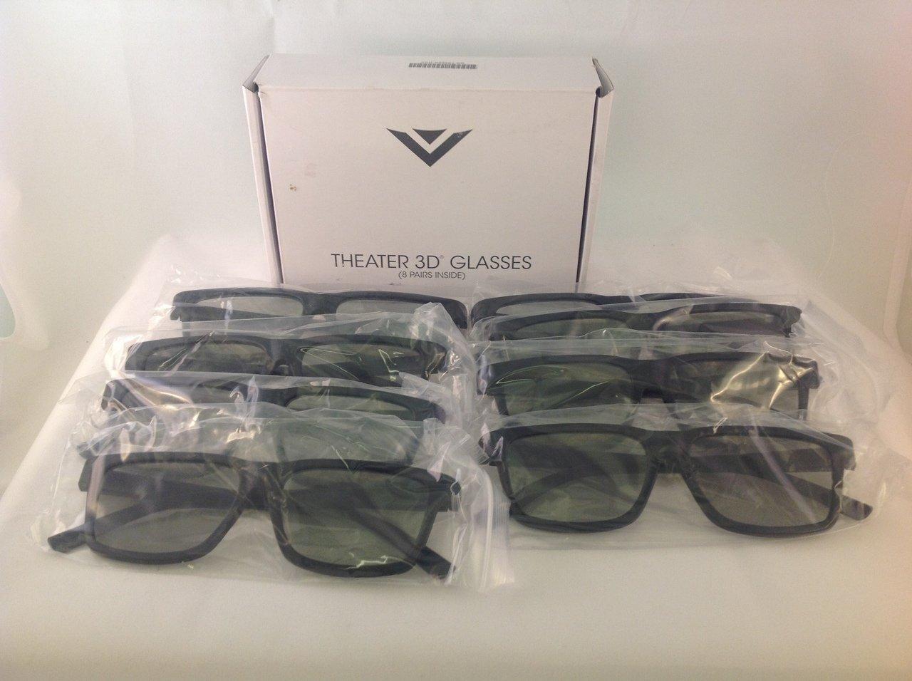 8 Pair of NEW Vizio Passive 3D Glasses XPG308 - Works on All Vizio TV's by VIZIO
