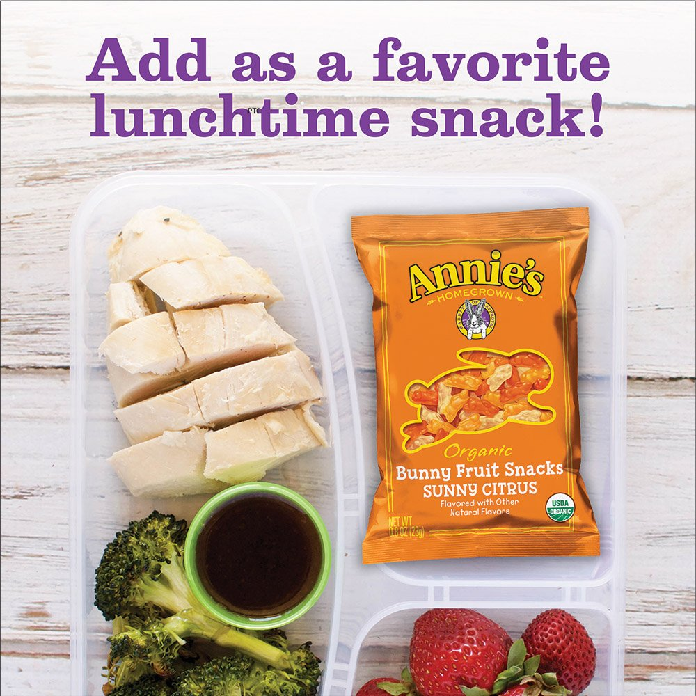 Annie's Homegrown Organic Bunny Fruit Snacks, Sunny Citrus, 25 Pouches, 0.8oz by Annie's Homegrown (Image #8)