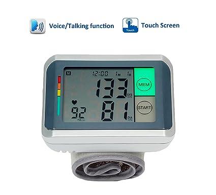 ObboMed MM-4770 Monitor de presión arterial digital de muñeca parlante y de pantalla táctil