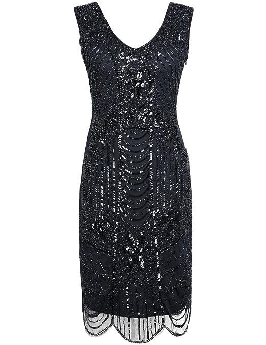 Review PrettyGuide Women's 1920s Flapper Dress Gatsby Sequin Scalloped Inspired Cocktail Dress