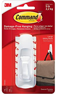 White 17003ES 17003GR 2-strips 1-hook Command Large Utility Hook