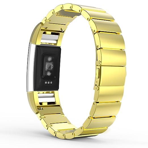 7 opinioni per MoKo Fitbit Charge 2 Cinturino, Braccialetto in Acciaio Inossidabile a Maglie