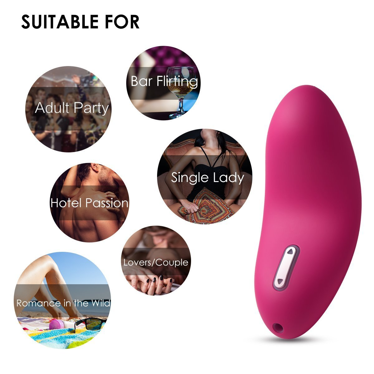 SVAKOM Echo Mini Powerful and Rechargeable Tongue Shape Design Vibrator Licked Feeling Electric Massagers (Red) by SVAKOM (Image #5)