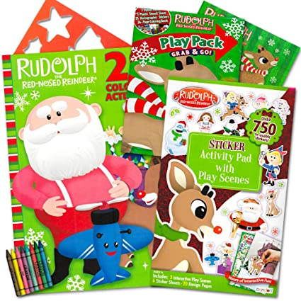 Play Scenes Bendon Publishing Rudolph the Red-Nosed Reindeer Stickers Set ~ Over 750 Rudolph the Red Nose Reindeer Stickers Design Pages