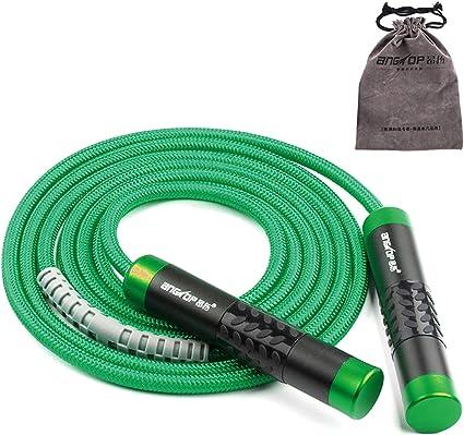 Einstellbares gewichtetes Springseil für Erwachsene mit schwerem Seil
