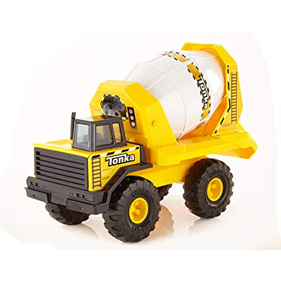 Tonka Steel Cement Mixer Vehicle, Yellow, Black, White: Toys & Games
