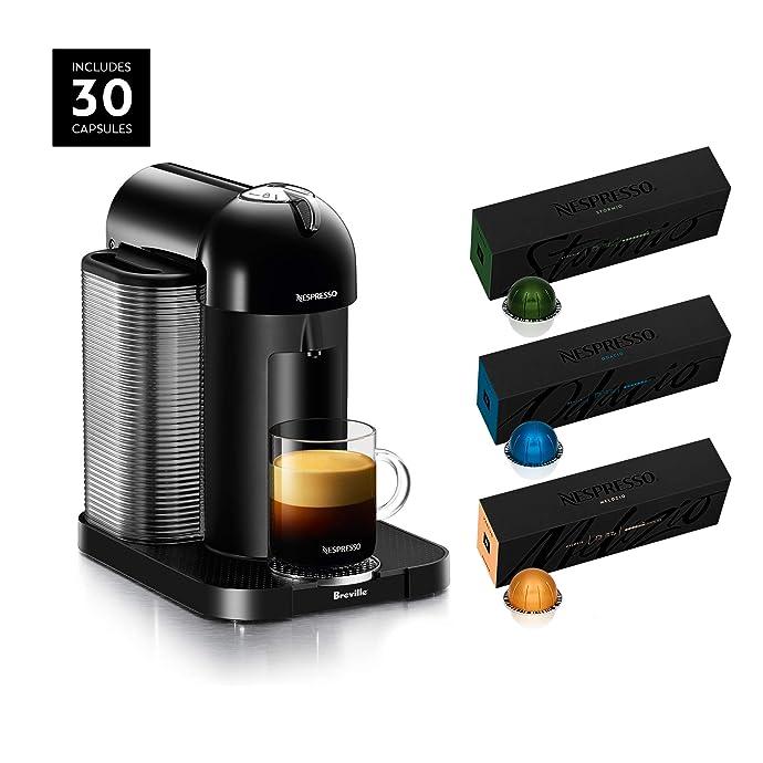 金盒特价 Breville 铂富 Nespresso Vertuo 胶囊咖啡机+30粒胶囊咖啡套装 5折$99.99 海淘转运到手约¥1147