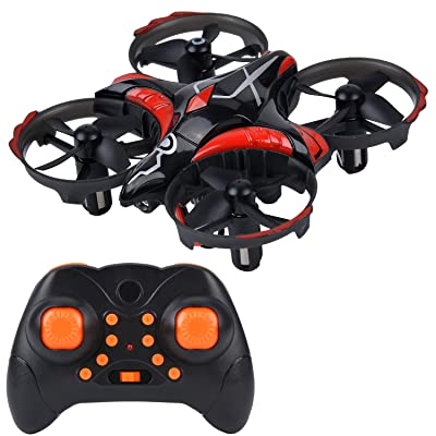 B bangcool Mini Quadcopter Drones-Micro Interactive Gesture Sensing Drone with 6-Axis Gyroscope, Remote Control Helicopter Headless Mode 3D Flip One Key Return Toys for Kids Adults Beginners(Black): Toys & Games