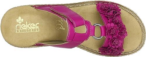 Rieker 65892, Damen Clogs & Pantoletten, Pink (fuchsia 31