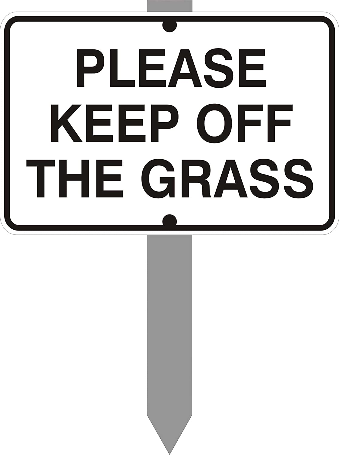 CMW Keep off the grass sign - 6