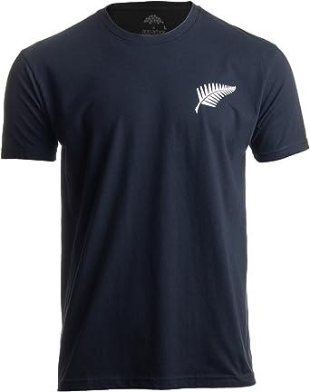 Ann Arbor T-shirt Co. Motivo neozelandés - Hoja Plateada de Helecho y Cruz del Sur - Negro Camiseta Unisex - S: Amazon.es: Ropa y accesorios