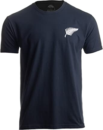 6067023220 New Zealand Pride | Kiwi Silver Fern Southern Cross Men Women Black T-Shirt-