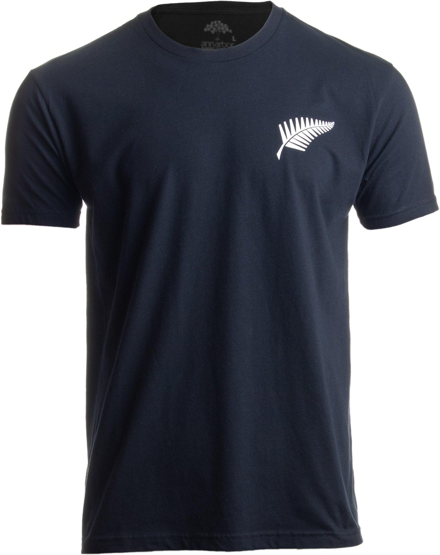 New Zealand Pride   Kiwi Silver Fern Southern Cross Men Women Black T-Shirt