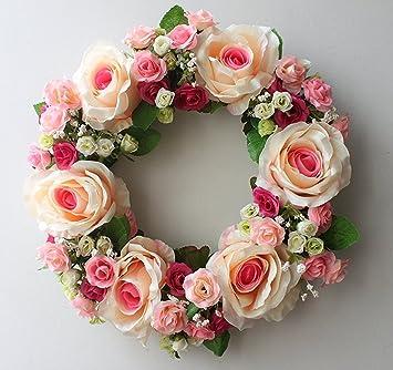 Amazon Com Large Blooming Flower Wreath Handmade Home Wall Wedding