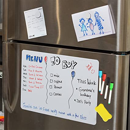 Magnetic White Board For Fridge, Dry Erase Reminder Board, Magnetic  Whiteboard For Refrigerator,