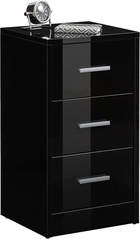 MAJA M/öbel Table de Chevet Taille Unique Noir