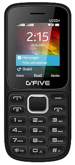 G'Five U220+  Black Red  Smartphones   Basic Mobiles