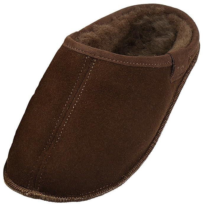 Extra Dicke Lammfell Pantoffeln mit Ledersohle Für Damen und Herren, Farben:Grau, Schuhgröße:42