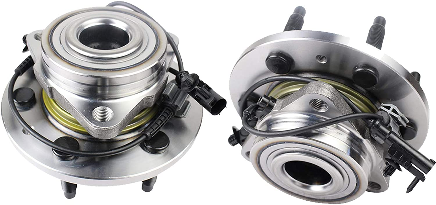 XL 1500 Avalanche PAROD 515096 Set of 2 Front Wheel Hub and Bearing Assembly Compatible with Chevy Tahoe Silverado Suburban 1500 GMC Yukon Sierra 1500 6 Lugs W//ABS Cadillac Escalade ESV EXT
