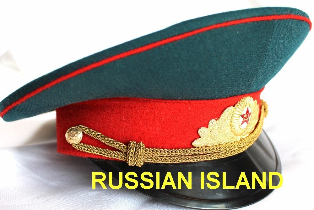 d83055bb7 Russian / USSR Army Military Hat / Officer's Cap + Soviet Red Star Badge  size M (US 7 1/8)