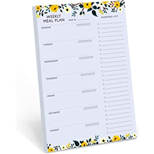 amazon com meal planning pad 6 x9 80 sheets per pad office