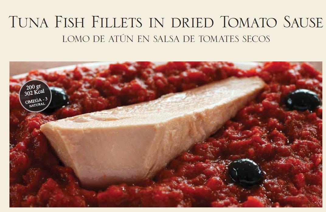 Olasagasti - Tuna Fish Fillet A La Siciliana Dried Tomato Sauce