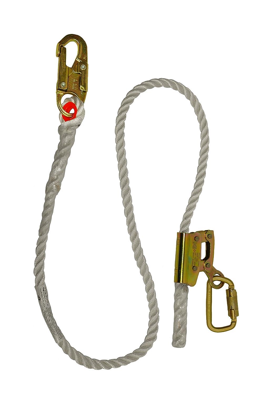 Elk River 34406 Quick-Adjustable Nylon Rope Positioning Lanyard with Carabiner and Zsnaphook 3600 lbs Gate 5//8 Diameter x 6 Length 5//8 Diameter x 6/' Length Inc