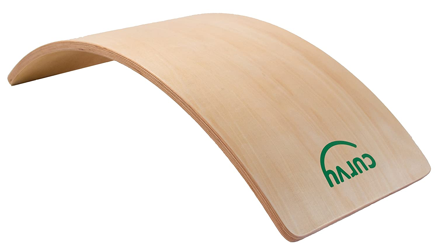 Curvy Balance Board, Large Wooden Balance/Rocker Board - Waldorf Open Ended Toy Young & Learning