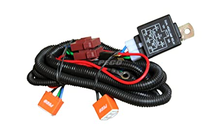 PECO - Car Dual Head Lamp Wiring Harness Kit with Heavy Relay for  Lamp Wiring Relay For on