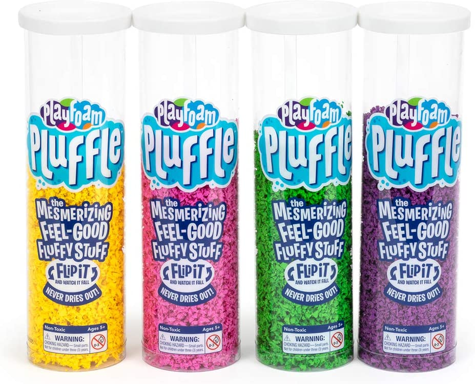 Educational Insights Playfoam Pluffle 4 Pack: Non-Toxic, Never Dries Out, Sensory Play, Ages 3 and Up