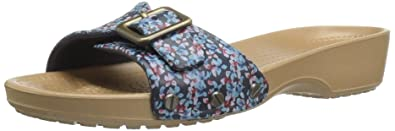 c7ceb061e93ff crocs Women s Sarah Graphic Flat Sandal