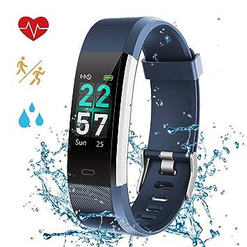 Pulsera Actividad con Pantalla Color Pulsera Inteligente GPS Pulsómetro Monitor de Ritmo Cardíaco Sueño Monitor de Actividad Impermeable IP68 Reloj ...