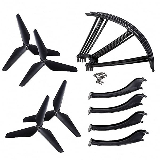 kingtoys® RC Drone Hélices Resbalón Aterrizaje Cubrir Hélices ...